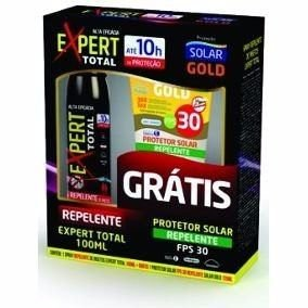Repelente Expert Total 100ml/Gratis Protetor Solar GoldFPS30