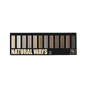 Paleta de Sombras RK By Kiss NY Natural Ways com 12 cores