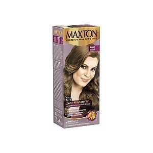 Tintura Maxton 7.12 Louro Médio Acinzentado Irisado