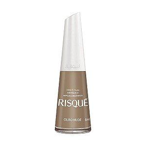 Esmalte Risque Metálico Nude Ouro 8ml