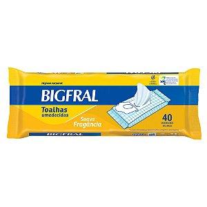 Toalhas Umedecidas Bigfral 40 unidades