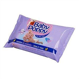 Toalha Umedecida Baby Poppy Premium 60un
