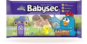 Toalhinha Umedecida BabySec Galinha Pintadinha 50un