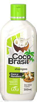 Shampoo Coco+Mandioca  Gota Dourada 300mL