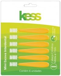 Kess Mini Escova Interdental Cilíndrica Média 7mm Cód 2006