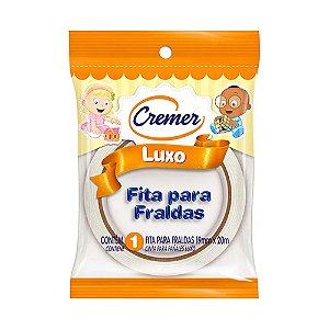 Fita Crepe Cremer Luxo Branca 19mmX20m