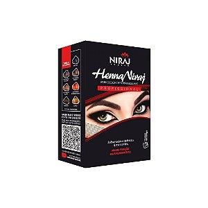 Niraj Henna para Sombrancelha Castanho Médio 3,5g+20ml