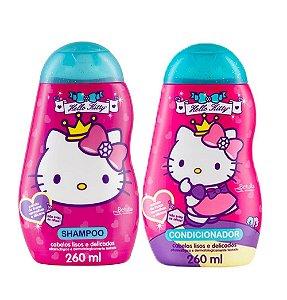 Kit Hello Kitty Cabelos Lisos Delicados Sh e Cond 260ml cada
