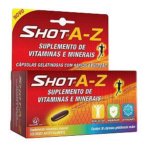 Shot A-Z 30 Caps Gelatinosas Moles - Genomma