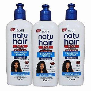 Kit Natu Hair Creme Sem Enxágue S.O.S Manutenção Intensiva