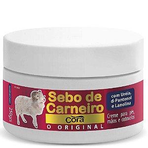 Creme Cora para os Pes,Mãos e Cotovelo Sebo de Carneiro 250g