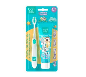 kit Higiene Bucal Boni Baby Gel Dental e Escova 0-3 anos