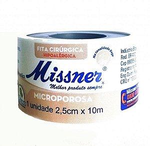 Fita Microporosa Missner Bege 2,5cm x 10 Metros