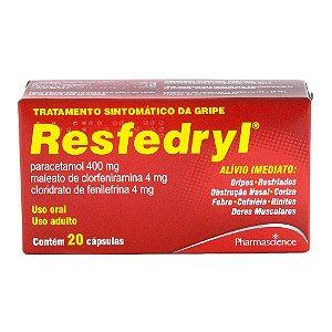 Paracetamol + Clor + Fenilefrina - Resfedryl c/ 20 cáps
