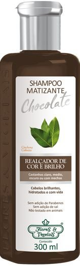 Shampoo Flores e Vegetais Matizante Chocolate 300ml