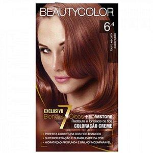 Tintura Beauty Color Sem Amônia 6.4 Louro Escuro Acobreado