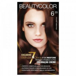 Tintura Beauty Color Sem Amônia 6.35 Chocolate Glamour