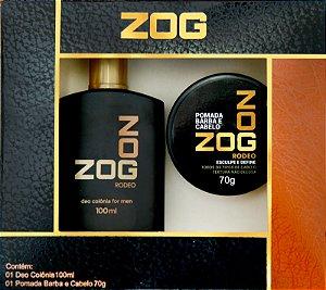Kit Colonia Zog Rodeo 100mL + Pomada Cabelo