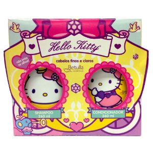 Kit Hello Kitty Shampoo e Condicionador Finos e Claros