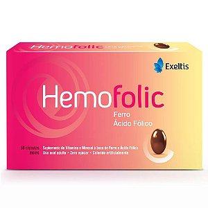 Ferro + Ác. Fólico - HEMOFOLIC 30 CAPS MOLES