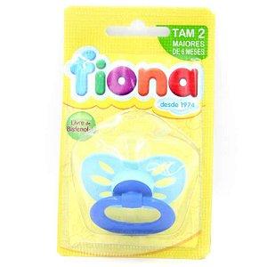 Fiona Chupeta Orto Bico Silicone Azul Ref.: 801220