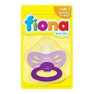 Fiona Chupeta Orto Bico Silicone Lilás Ref: 801250