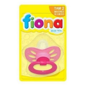 Fiona Chupeta Orto Bico Silicone Rosa Ref.: 801230
