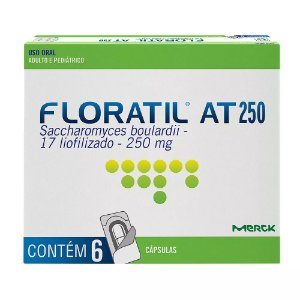 FLORATIL AT 250mg com  6 cápsulas - MERCK