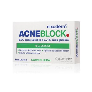 Acneblock Sabonete Herbal Pele Oleosa 85g - Kley Hertz