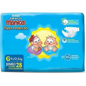 Fralda Huggies Jumbo Tripla Proteção Tam G c/ 28 un