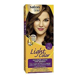 Tintura Ligth Color Sem Amônia 7.7 Marron Dourado