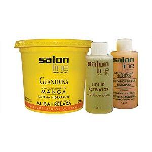 Salon Line Guanidina Manga Cabelos Finos e Médios 218g