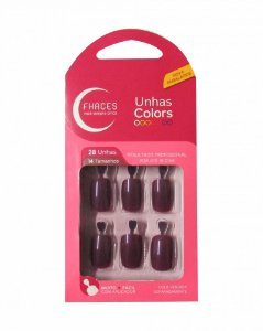 Unhas Fhaces Colors c/ 28 Unhas Jaboticaba Ref.: U3059