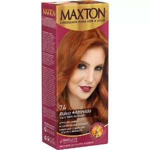Tintura Maxton Kit 7.4 Ruiva Atrevida (Especial)