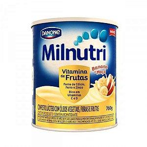 Milnutri Vitaminas de Frutas Banana e Maçã 800g