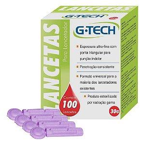 Lancetas G Tech Espessura Ultra-fina 100un