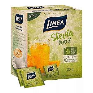 Adoçante em Pó Linea Stevia 100% 6g 50 Envelopes