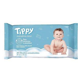 Toalha Umedecida Tippy Evolution Clean 100un