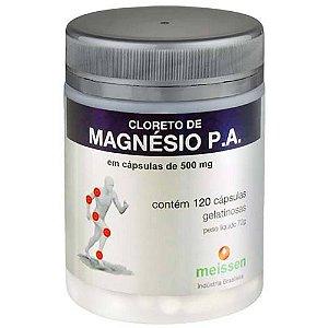 Cloreto de Magnésio P.A. 500mg 60 Cápsulas Vegetais Meissen