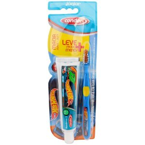 Escova de Dente Condor Jr Hot Wheels + Gel Dental