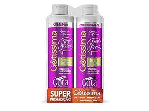 Kit Gota Dourada Gotissima Sh+Cond. Coco/Cenoura300ml cada