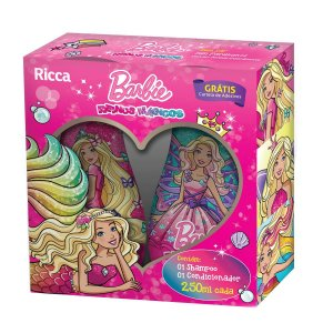 kit Belliz Barbie Reinos Magicos sh+cond 250ml cada