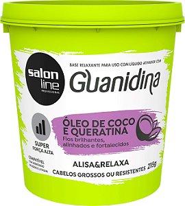 Alisante S Line Guanidina Oleo de Coco + Queratina Reg  215g