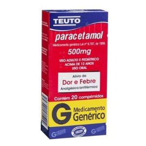 PARACETAMOL 500mg cx 20 comp