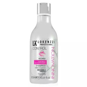 Shampoo Lokenzzi 320mL Control Gengibre e Hibisco