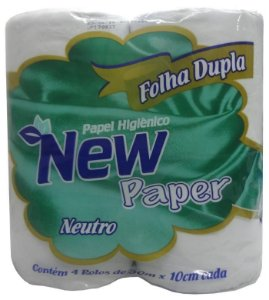 PAPEL HIGIENICO NEW PAPER NEUTRO C/4