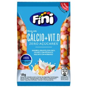 Balas Fini Calcio + Vit.D 18g -Zero Açúcar