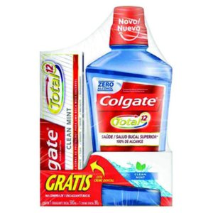 Enxaguante Bucal Colgate Total 12 + Cr Dental Colgate Tot 12