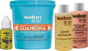 Alisante Salon Line Oleo de Argan Medio ou Finos 218g