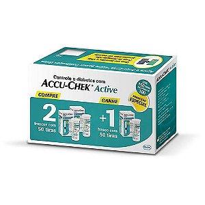 Combo  ACCU-CHEK Active Compre 2 Leve 3 C/50unid.Cada